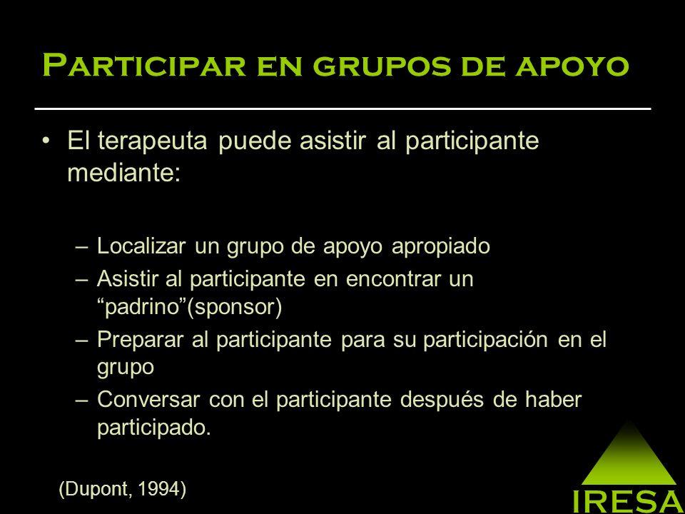 Participar en grupos de apoyo
