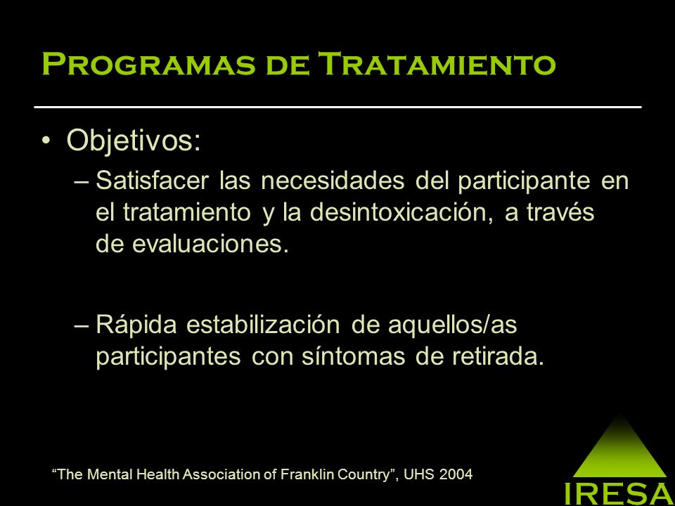 Programas de Tratamiento