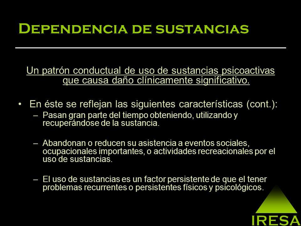 Dependencia de sustancias