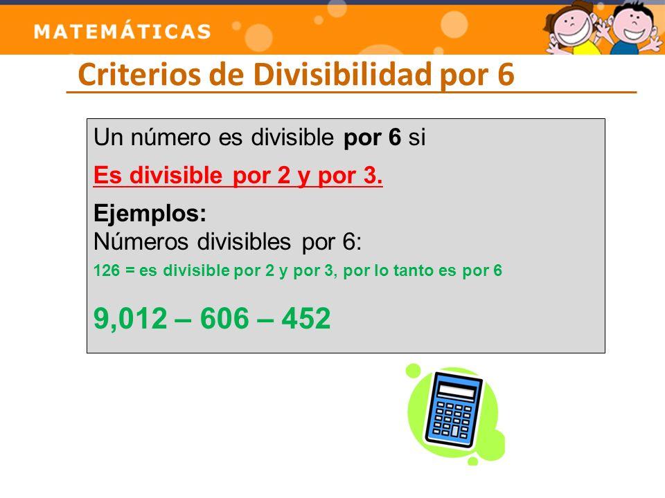 Criterios de Divisibilidad por 6