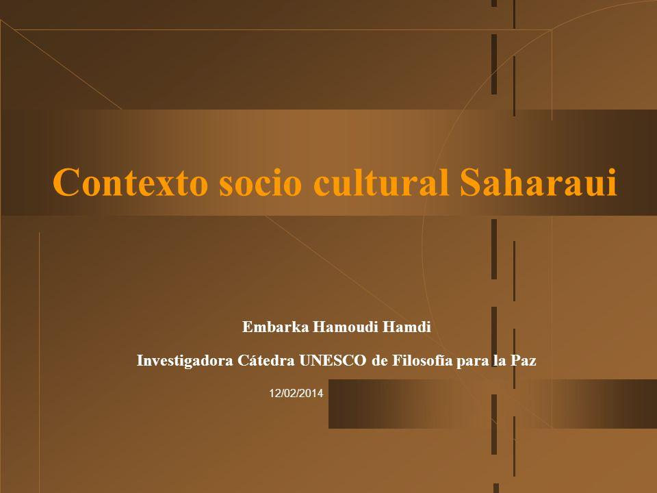 Contexto socio cultural Saharaui