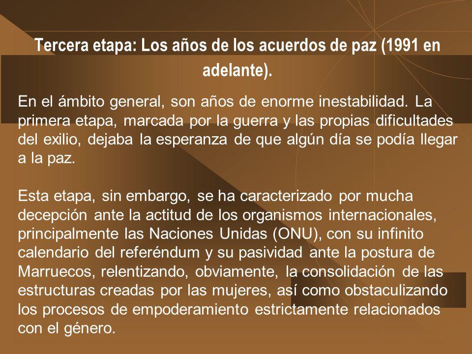 Tercera etapa: Los años de los acuerdos de paz (1991 en adelante).