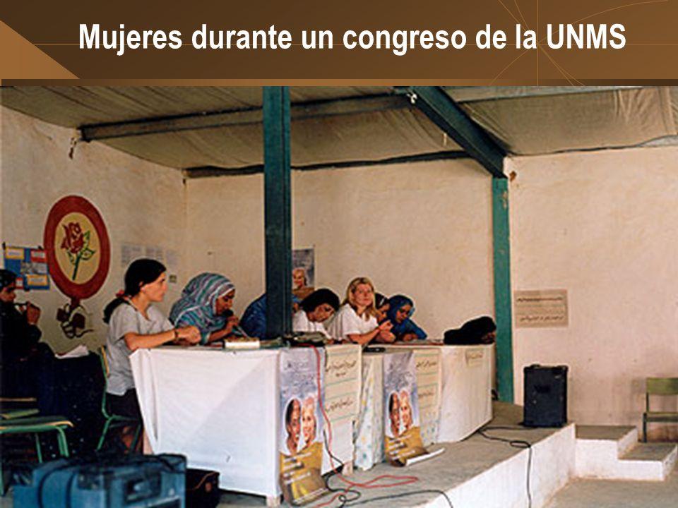 Mujeres durante un congreso de la UNMS