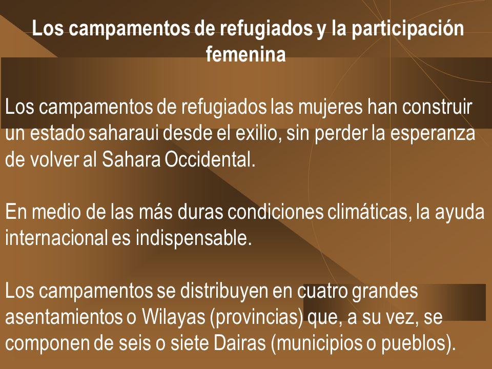 Los campamentos de refugiados y la participación femenina