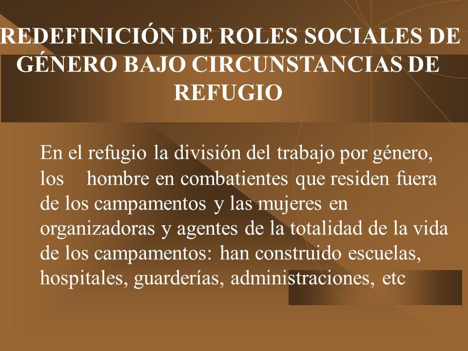 REDEFINICIÓN DE ROLES SOCIALES DE GÉNERO BAJO CIRCUNSTANCIAS DE REFUGIO