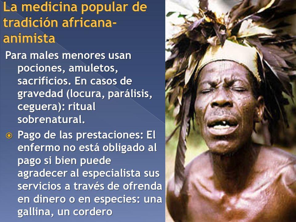 La medicina popular de tradición africana-animista