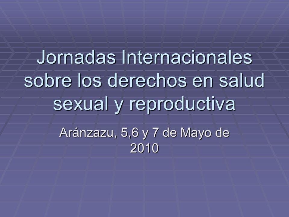 Jornadas Internacionales sobre los derechos en salud sexual y reproductiva