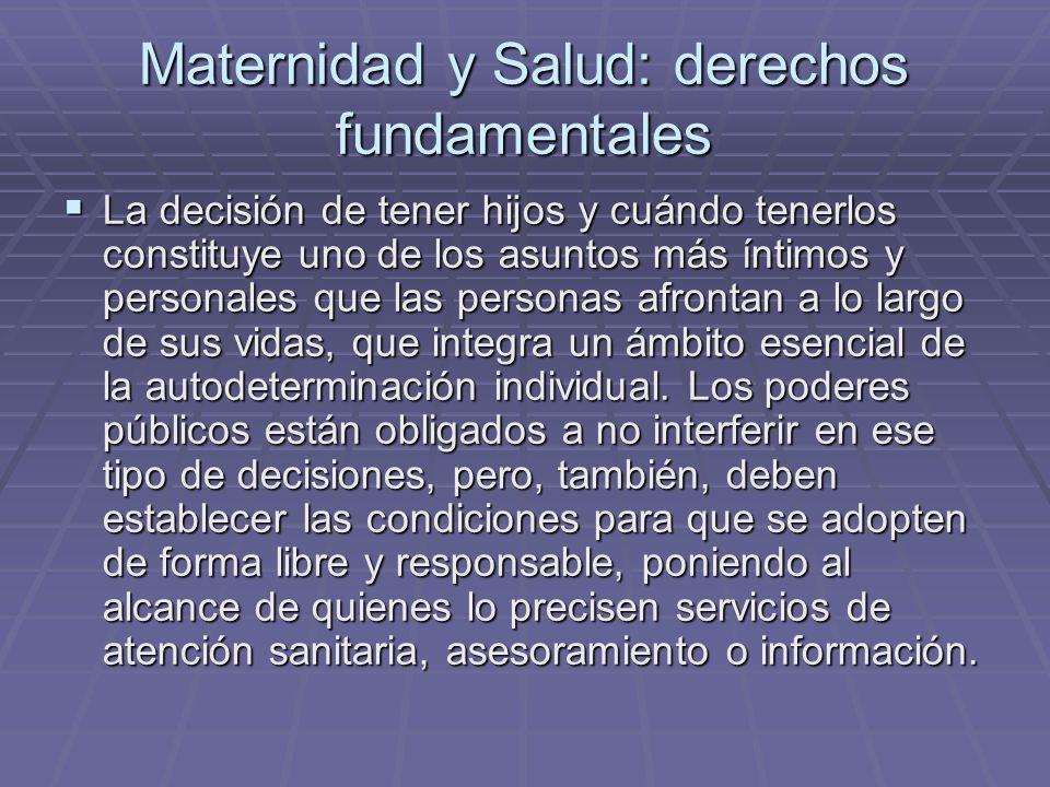 Maternidad y Salud: derechos fundamentales