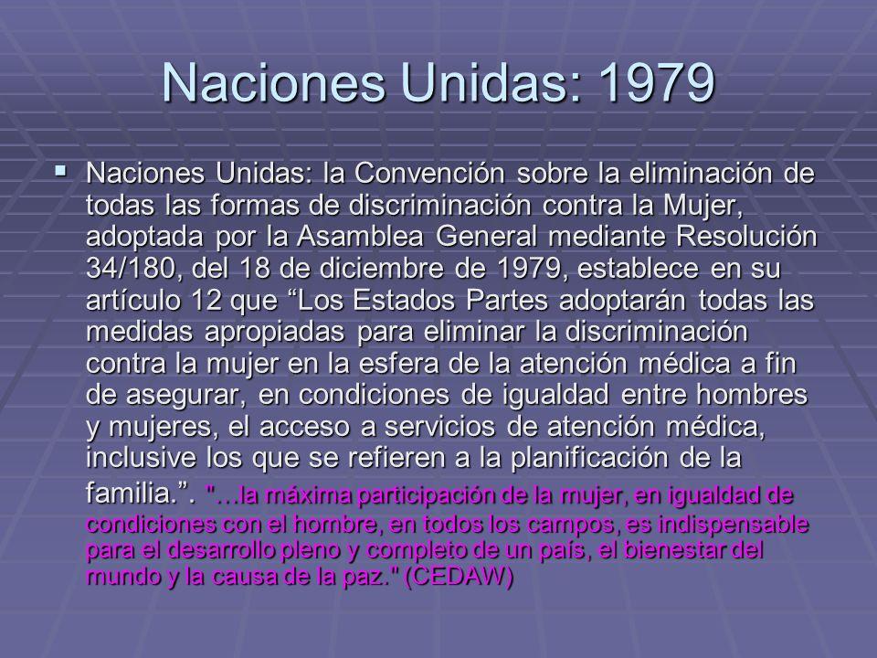 Naciones Unidas: 1979