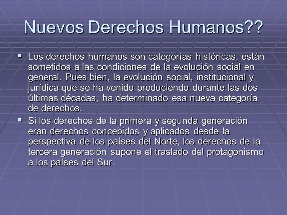 Nuevos Derechos Humanos