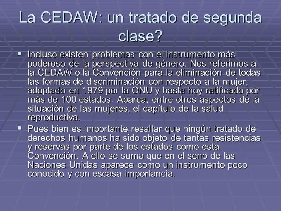 La CEDAW: un tratado de segunda clase