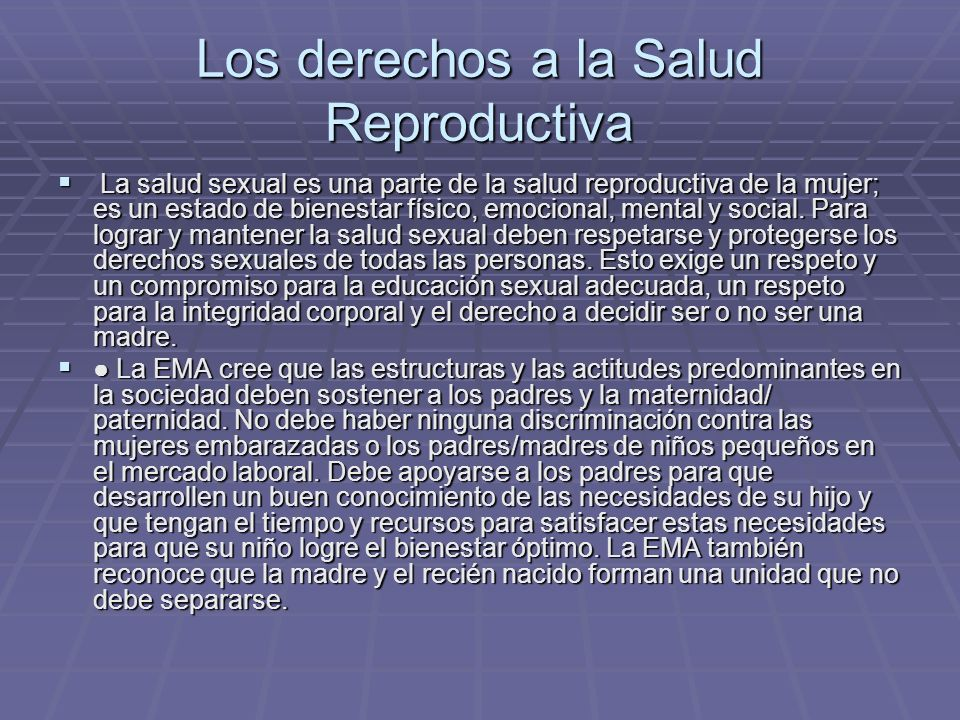 Los derechos a la Salud Reproductiva