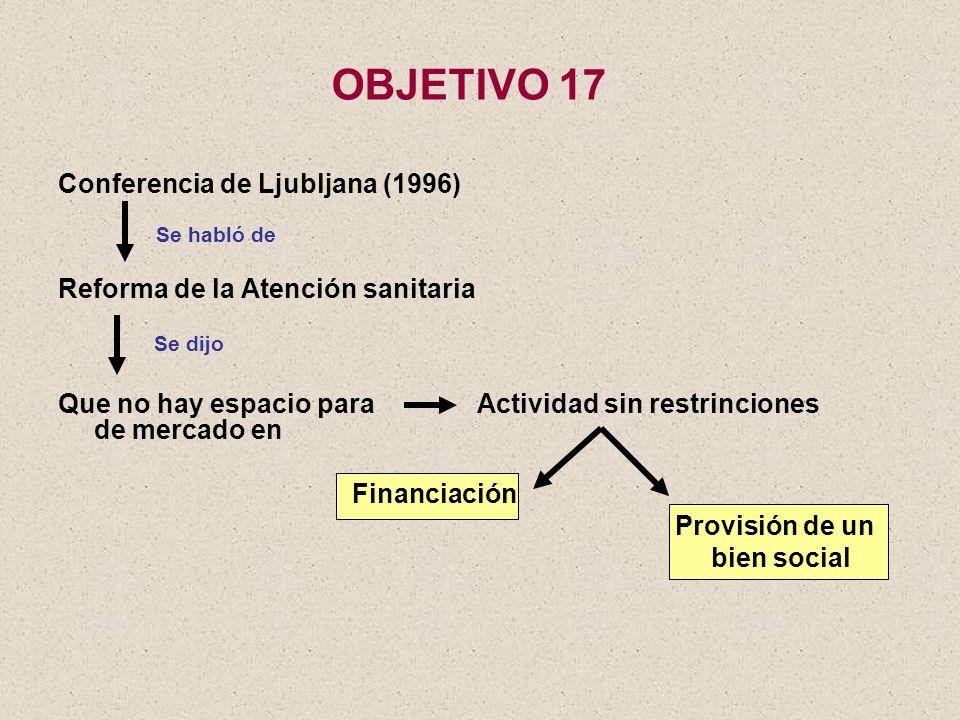 OBJETIVO 17 Conferencia de Ljubljana (1996)