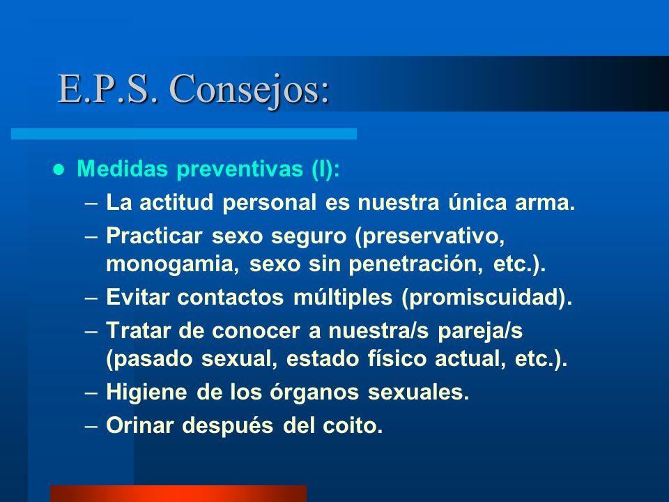 E.P.S. Consejos: Medidas preventivas (I):