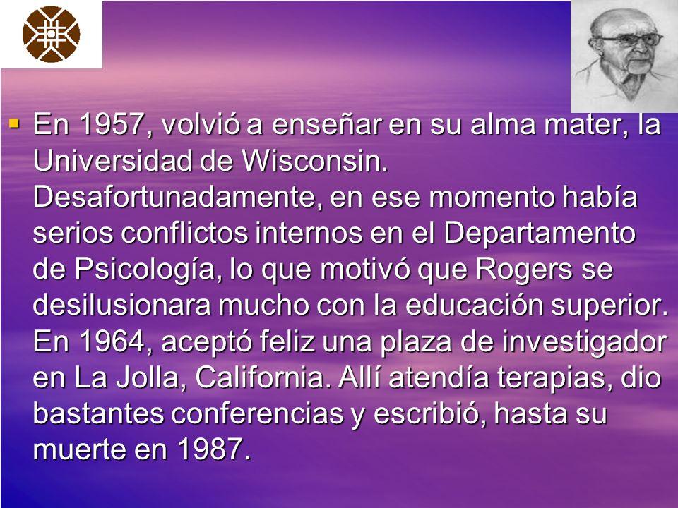 En 1957, volvió a enseñar en su alma mater, la Universidad de Wisconsin.