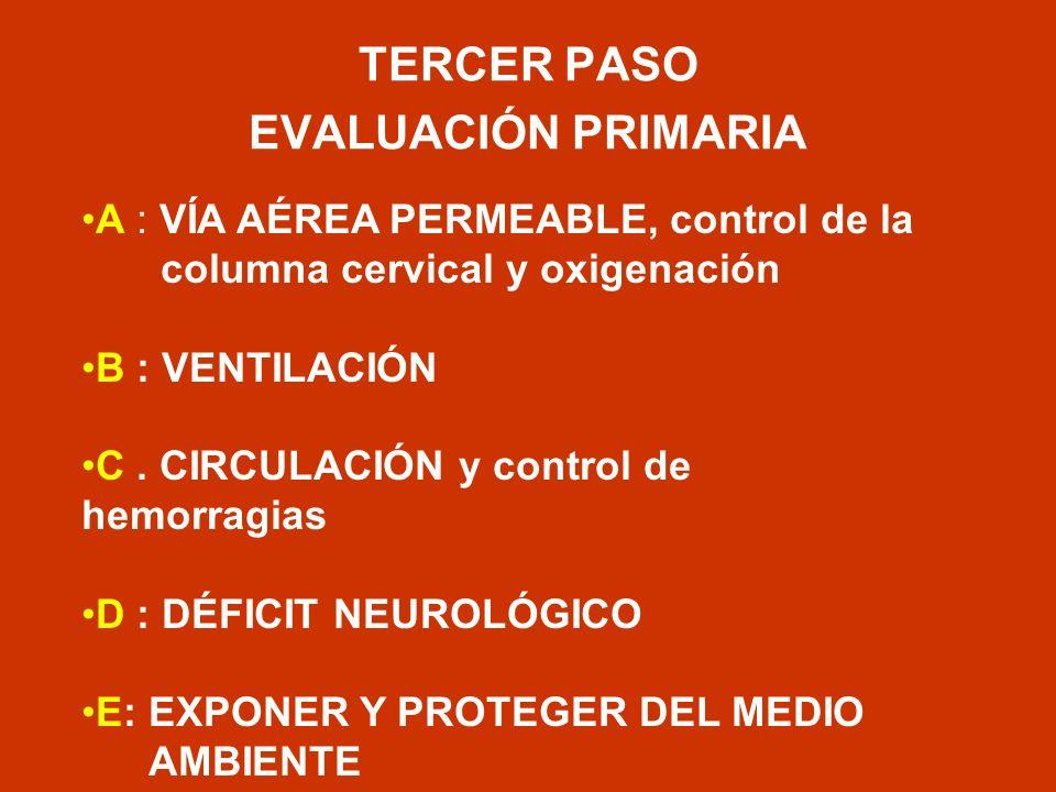 TERCER PASO EVALUACIÓN PRIMARIA