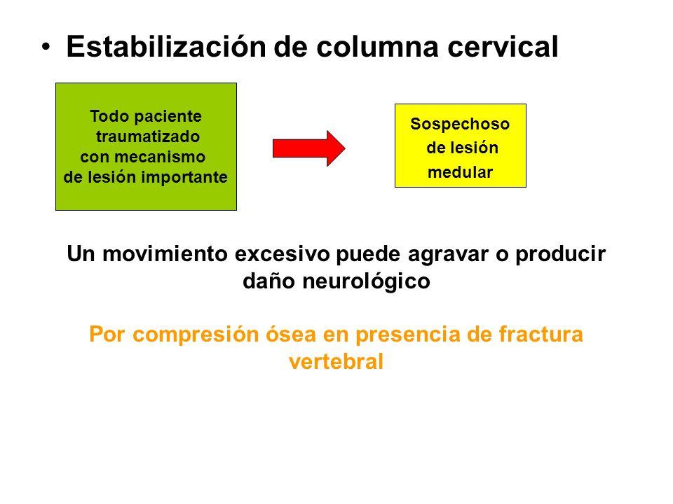 Estabilización de columna cervical