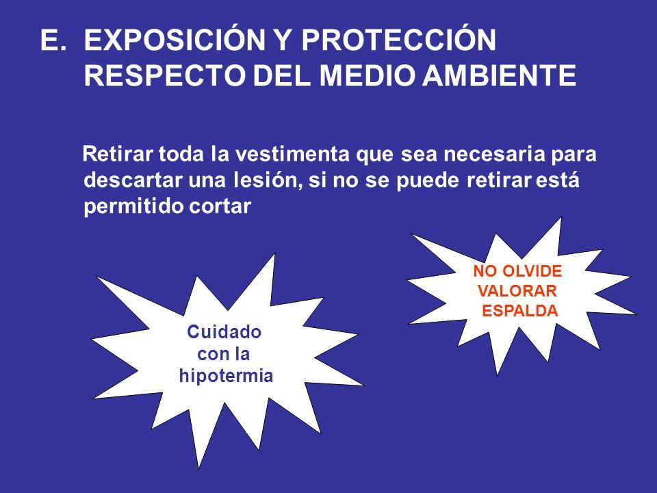 EXPOSICIÓN Y PROTECCIÓN RESPECTO DEL MEDIO AMBIENTE