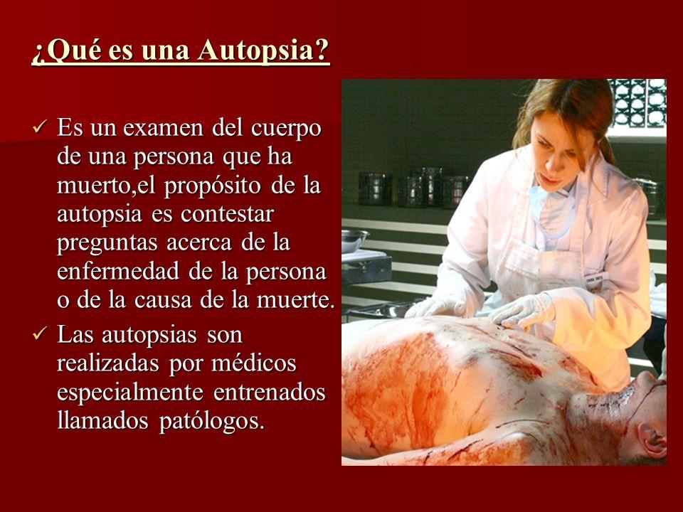 ¿Qué es una Autopsia