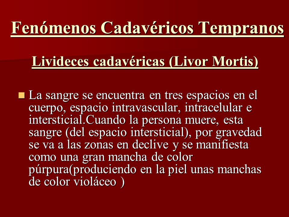 Fenómenos Cadavéricos Tempranos