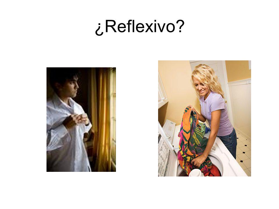 ¿Reflexivo