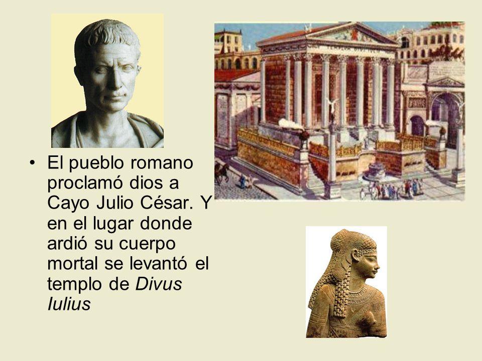 El pueblo romano proclamó dios a Cayo Julio César