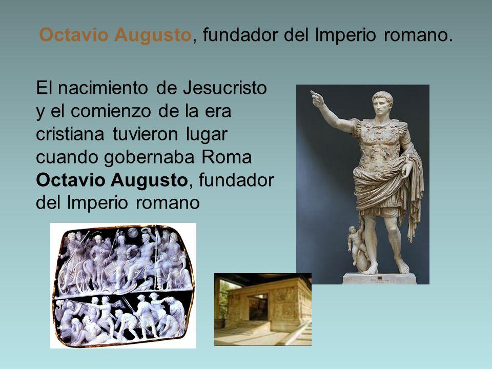 Octavio Augusto, fundador del Imperio romano.