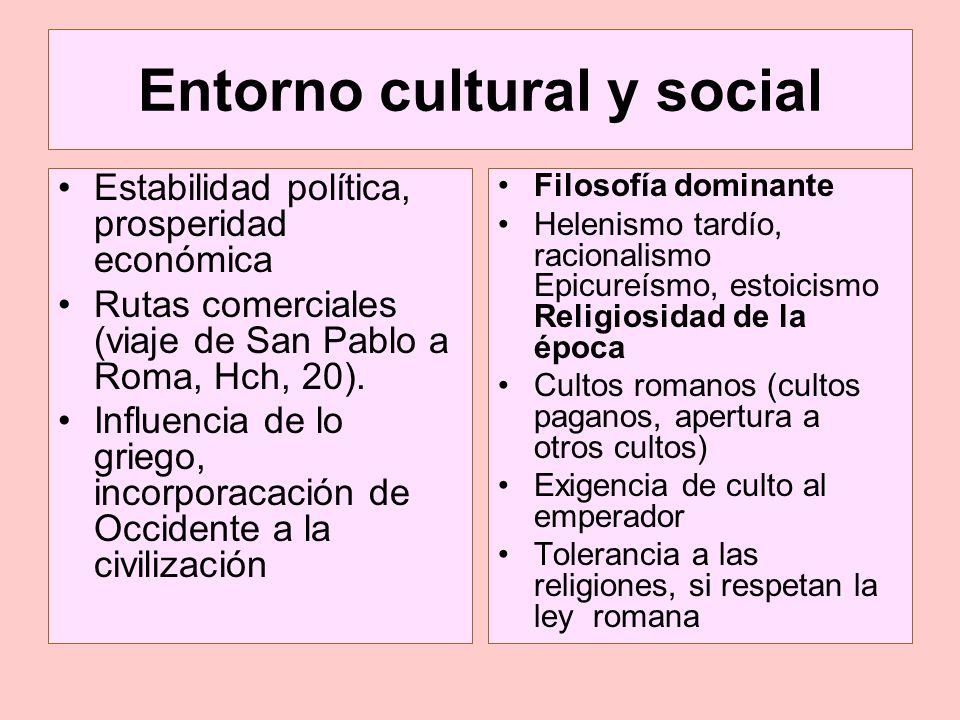 Entorno cultural y social