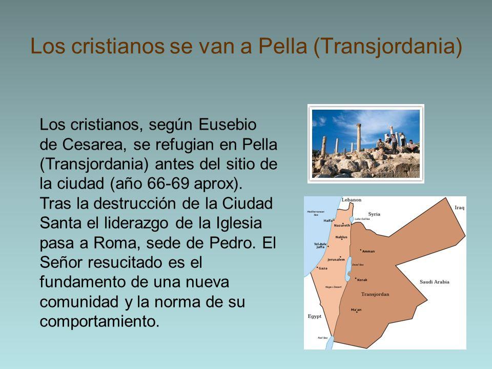 Los cristianos se van a Pella (Transjordania)