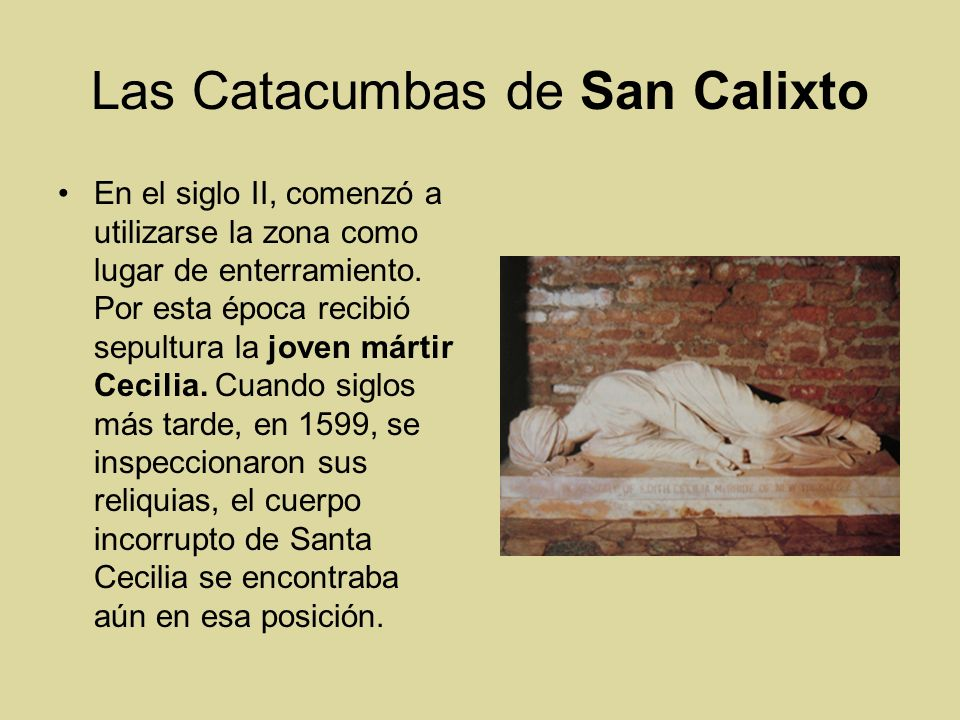 Las Catacumbas de San Calixto