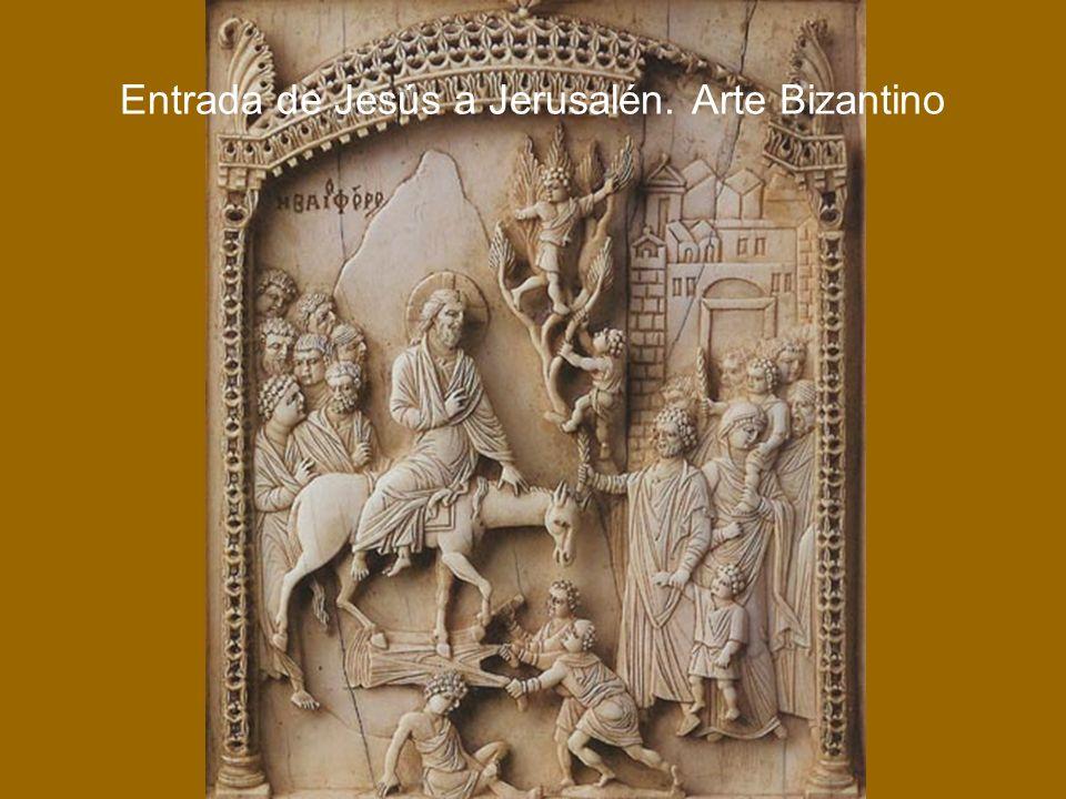 Entrada de Jesús a Jerusalén. Arte Bizantino