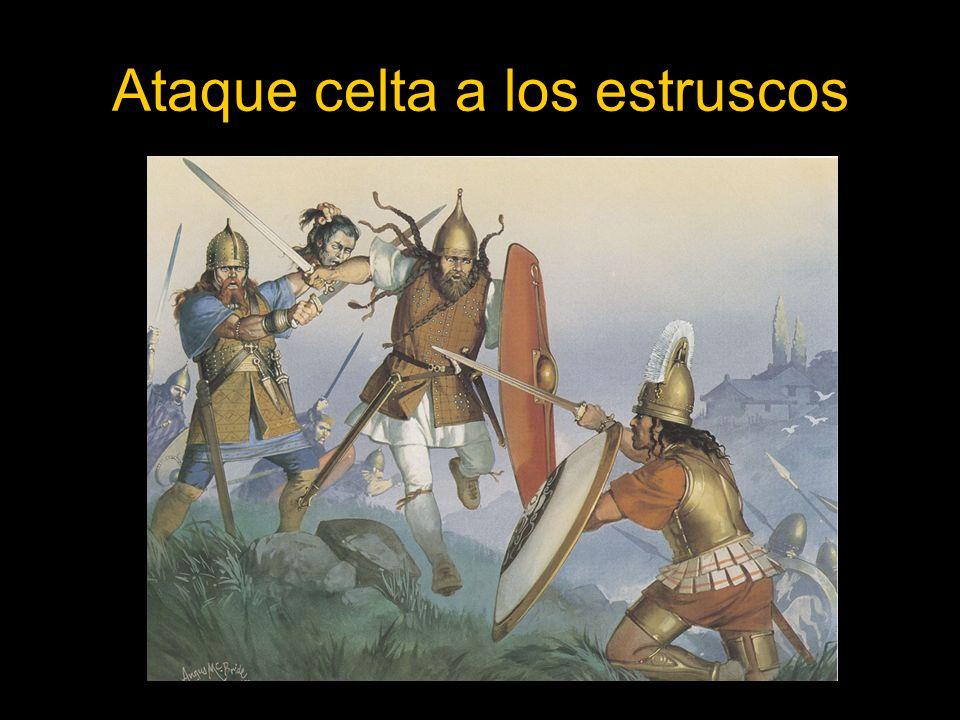 Ataque celta a los estruscos