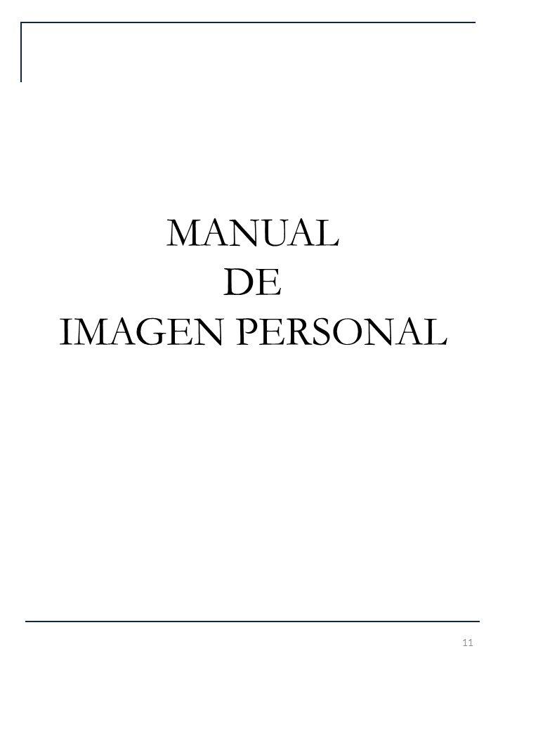 MANUAL DE IMAGEN PERSONAL