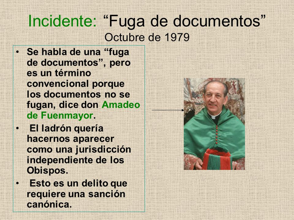 Incidente: Fuga de documentos Octubre de 1979