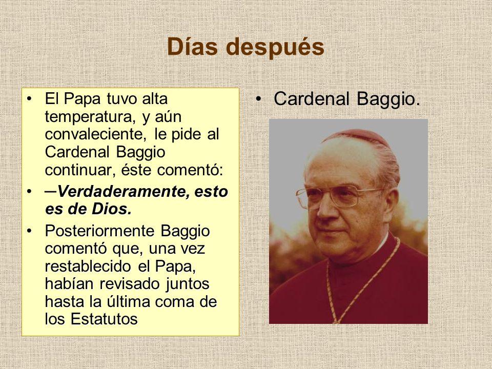 Días después Cardenal Baggio.