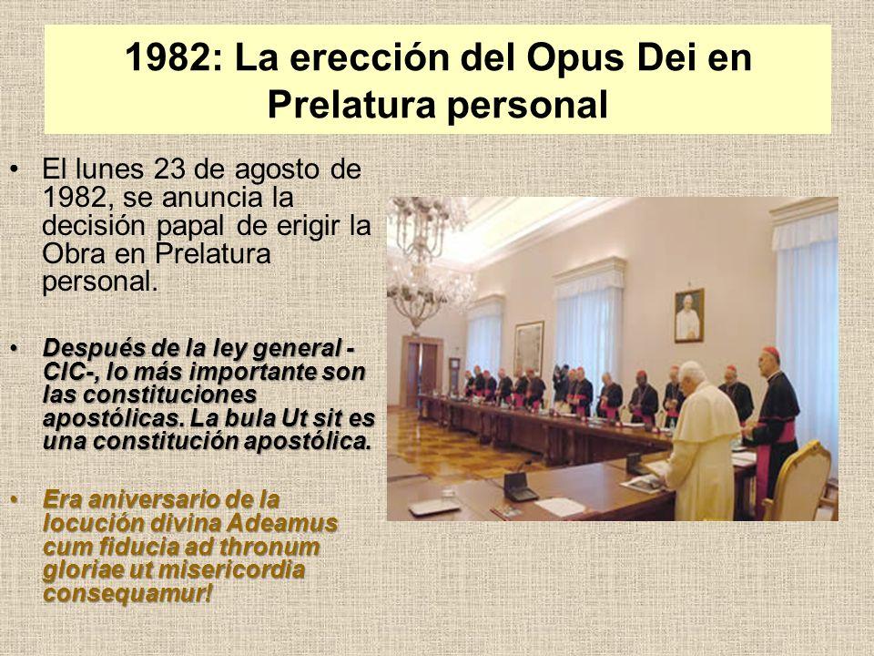 1982: La erección del Opus Dei en Prelatura personal
