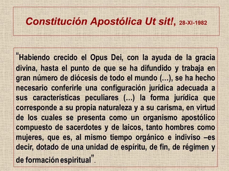 Constitución Apostólica Ut sit!, 28-XI-1982