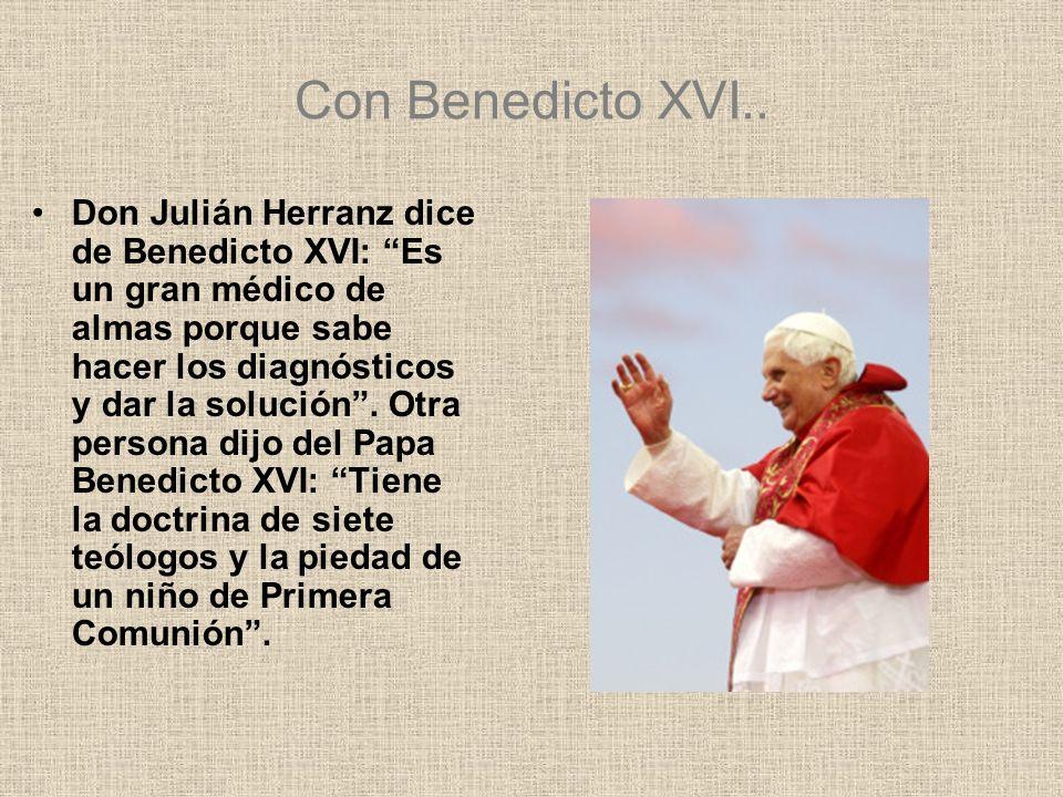 Con Benedicto XVI..