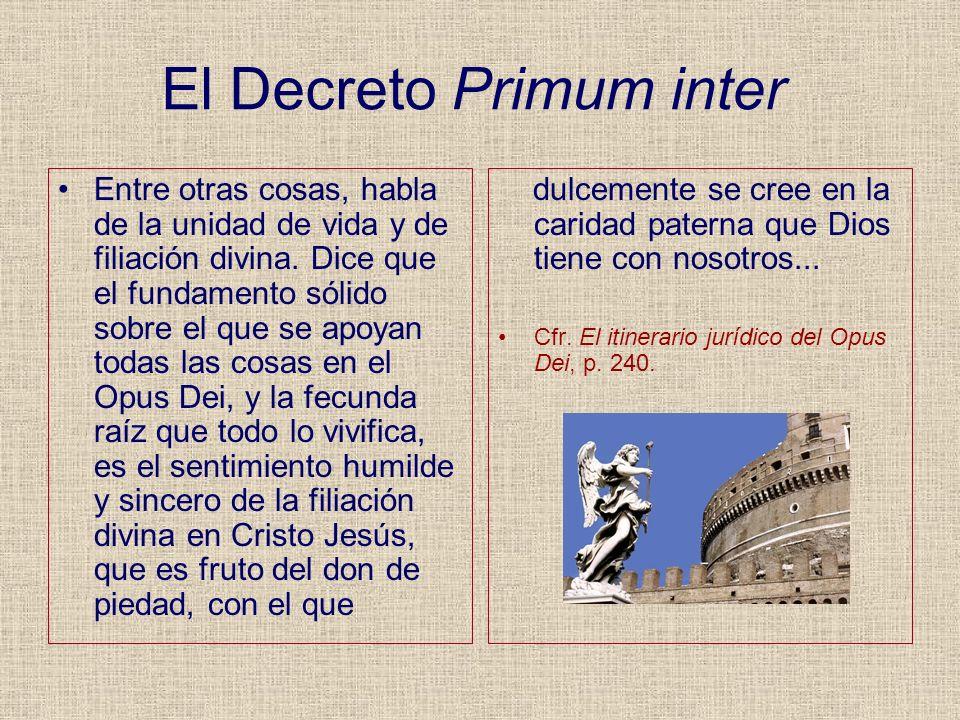 El Decreto Primum inter
