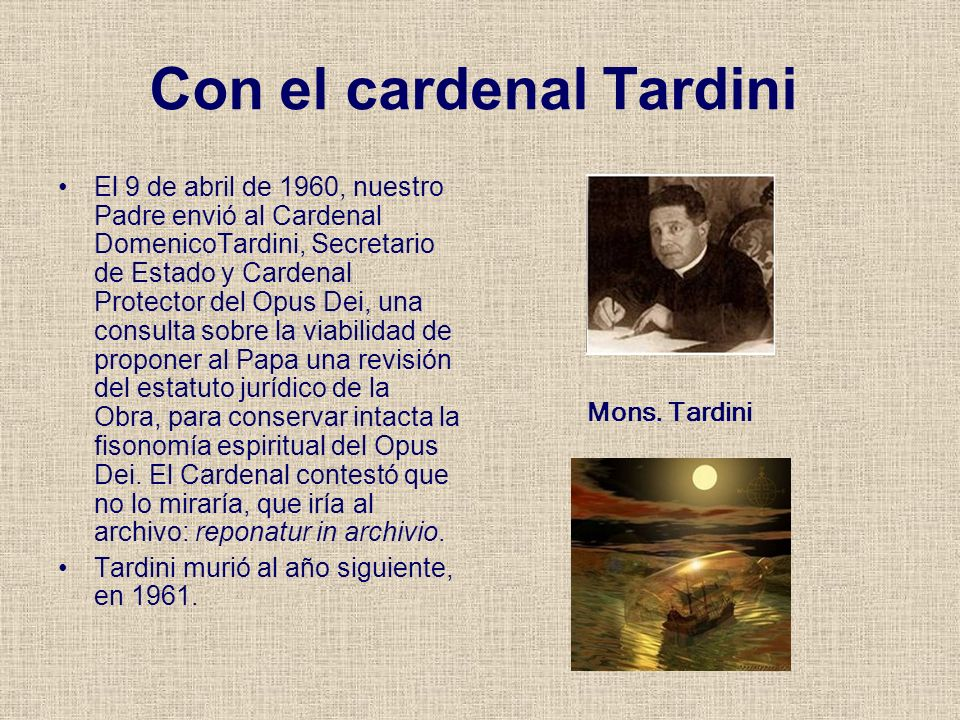 Con el cardenal Tardini
