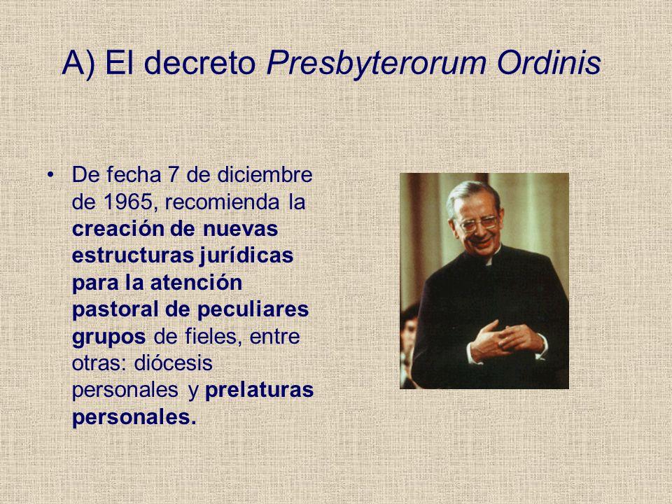 A) El decreto Presbyterorum Ordinis