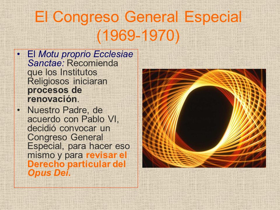 El Congreso General Especial (1969-1970)