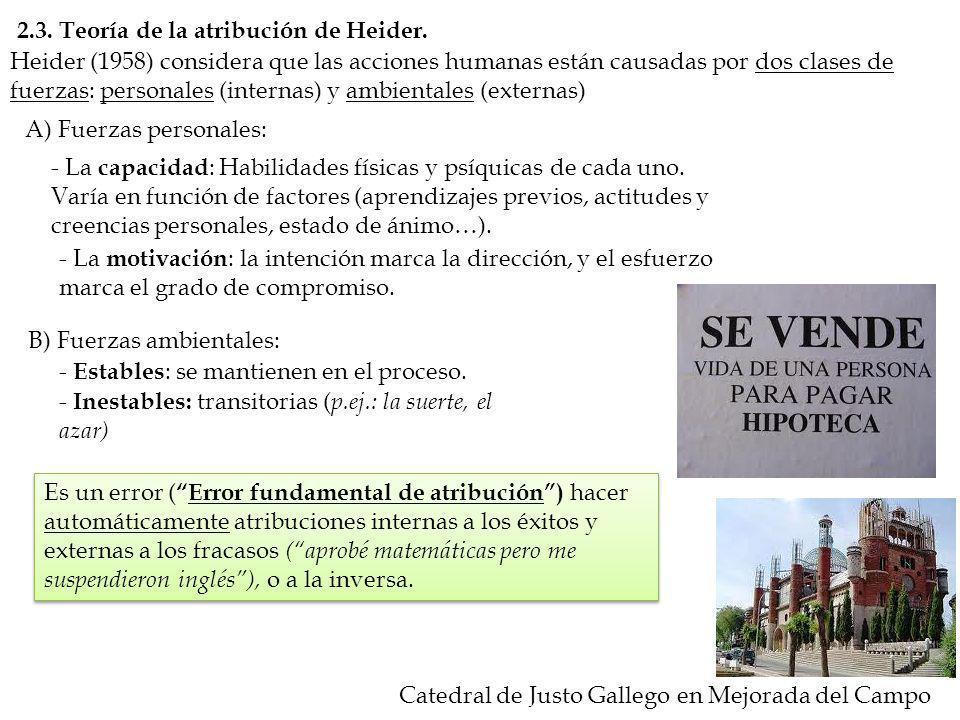 2.3. Teoría de la atribución de Heider.