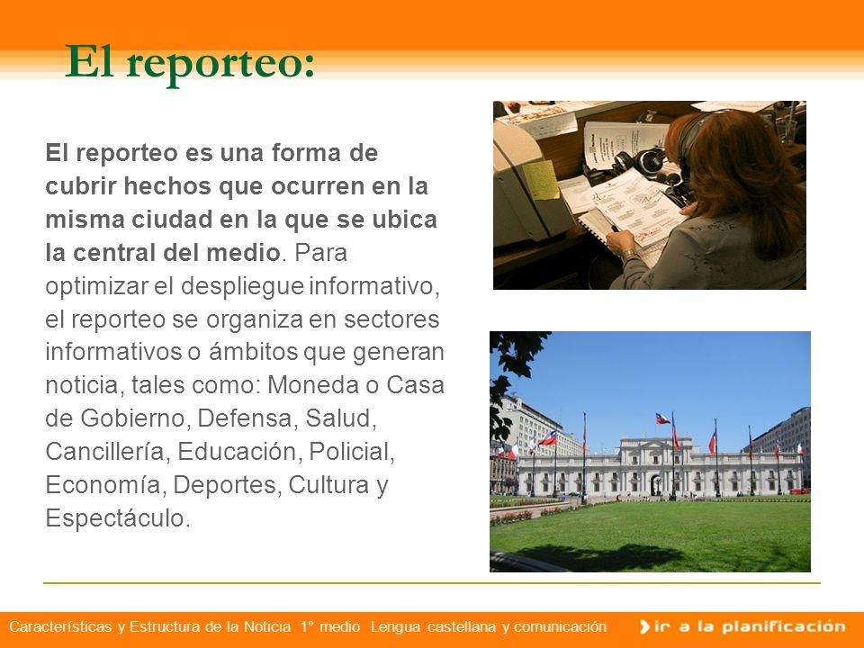 El reporteo: