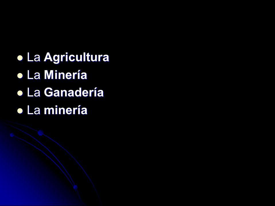 La Agricultura La Minería La Ganadería La minería