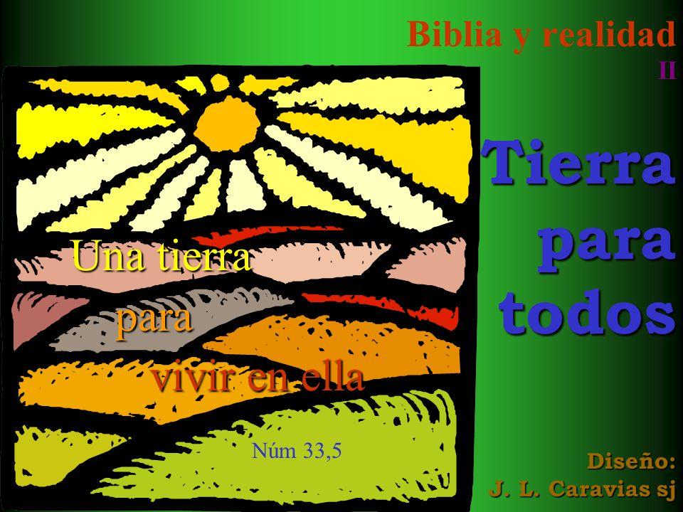 Biblia y realidad II Tierra para todos Diseño: J. L. Caravias sj