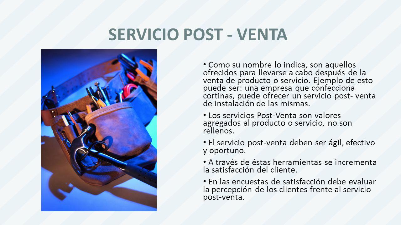 SERVICIO POST - VENTA