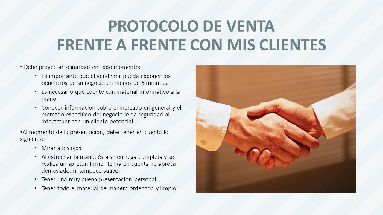 PROTOCOLO DE VENTA FRENTE A FRENTE CON MIS CLIENTES