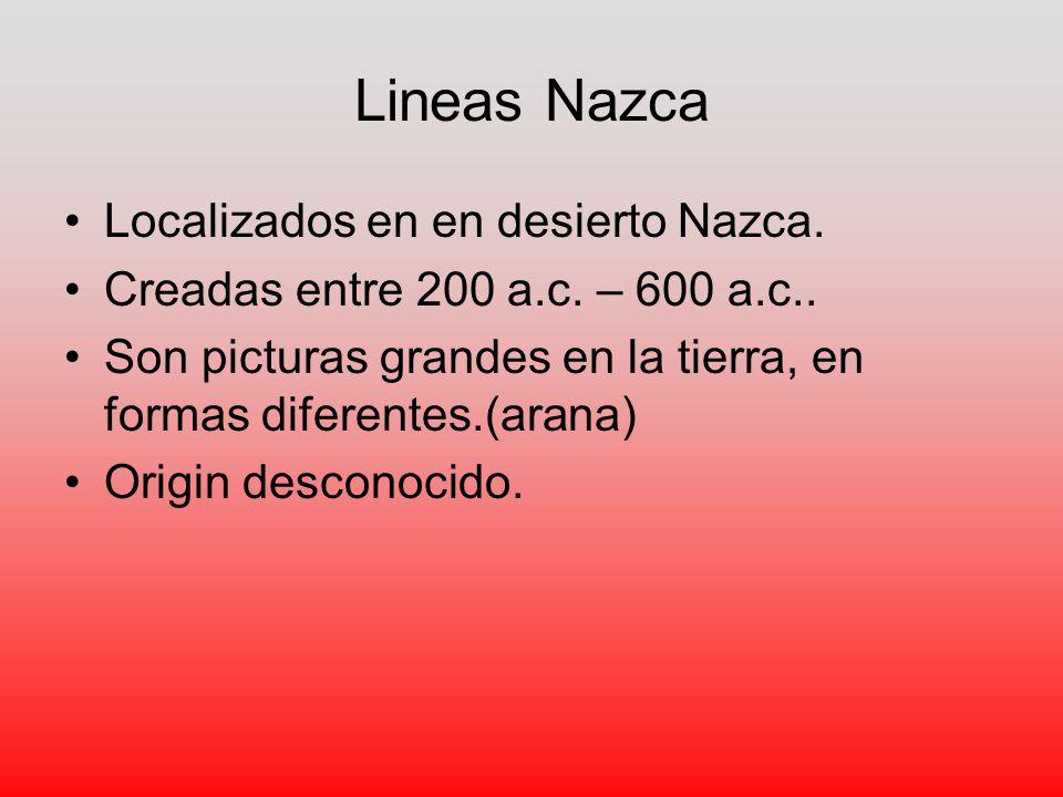 Lineas Nazca Localizados en en desierto Nazca.