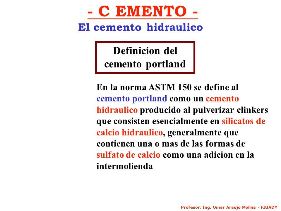 Definicion del cemento portland